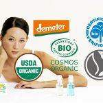 Organic cosmetic logos