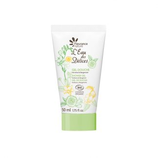 Organic travel size shower gel
