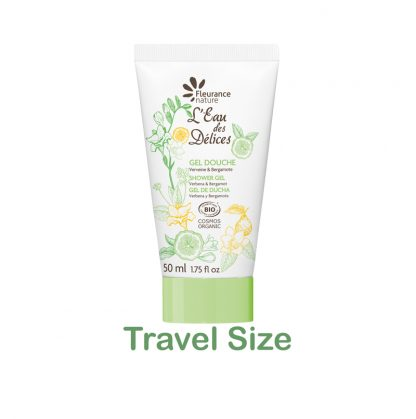 organic shower gel travel size
